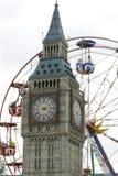 Occhio di Londra e del grande Ben Fotografie Stock Libere da Diritti