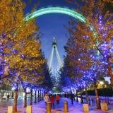 Occhio di Londra, rotella di millennio Fotografie Stock Libere da Diritti