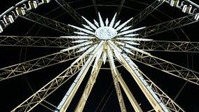 Occhio di Sziget dell'occhio di Budapest, Ungheria - di Budapest nel parco di teri di Erzsebet alla notte video d archivio