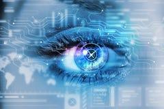 Occhio digitale femminile immagine stock libera da diritti