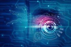 Occhio digitale maschio immagini stock libere da diritti