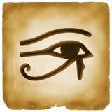 Occhio documento di simbolo di Horus di vecchio Fotografia Stock Libera da Diritti