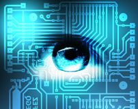 Occhio e electonics Fotografia Stock