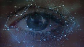 Occhio e linee asimmetriche stock footage