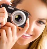 Occhio e macchina fotografica Fotografia Stock