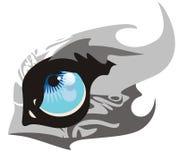Occhio enorme del lupo illustrazione di stock