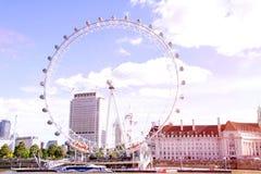Occhio Ferris Wheel di Londra Fotografia Stock Libera da Diritti