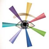 Occhio futuristico Fotografie Stock