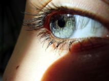Occhio, indicatore luminoso e un'ombra Fotografie Stock Libere da Diritti