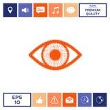Occhio - logo di semitono Fotografia Stock