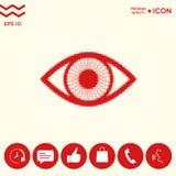 Occhio - logo di semitono Immagini Stock