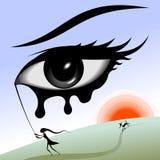 Occhio nel cielo. illustrazione vettoriale
