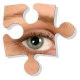 Occhio sopra bianco Fotografie Stock