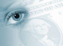 Occhio sulle finanze Immagine Stock Libera da Diritti