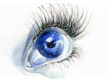 Occhio umano royalty illustrazione gratis