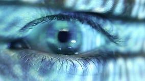 Occhio umano video d archivio