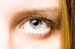 Occhio umano. fotografia stock