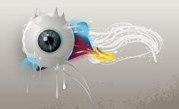Occhio umano con gli elementi astratti Immagine Stock Libera da Diritti