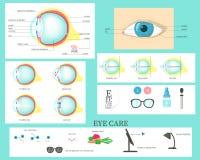 Occhio umano infographic, illustrazione isolata piana di vettore royalty illustrazione gratis