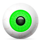 Occhio verde Fotografie Stock