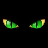 Occhio verde diabolico Immagine Stock