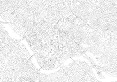 Occidental contemporary Flat city landscape. Urban landscape in a modern city royalty free illustration