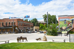 The Occidental Hotel. BUFFALO, WYOMING - JUNE 23, 2017: The Occidental Hotel. Founded in 1880 at the foot of the Bighorn Mountains near the Bozeman Trail, it Stock Photography