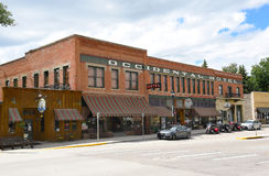 The Occidental Hotel. BUFFALO, WYOMING - JUNE 23, 2017: The Occidental Hotel. Founded in 1880 at the foot of the Bighorn Mountains near the Bozeman Trail, it Stock Photos