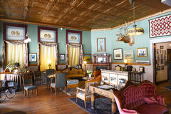 The Occidental Hotel Lobby. BUFFALO, WYOMING - JUNE 23, 2017: The Occidental Hotel Lobby. Founded in 1880 at the foot of the Bighorn Mountains near the Bozeman Royalty Free Stock Photography