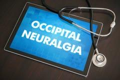 Occipital neuralgia (neurological disorder) diagnosis medical co Stock Photos