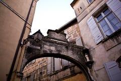 Occitan francés de la pronunciación de Arles: Arle en normas clásicas y de Mistralian; Arelate en latín antiguo Fotos de archivo libres de regalías