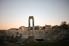 Occitan francês da pronunciação de Arles: Arle em normas clássicas e de Mistralian; Arelate no latim antigo Fotografia de Stock