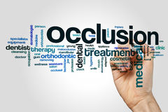 Occlusion word cloud Royalty Free Stock Photo