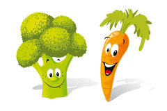 Occoli and carrot Royalty Free Stock Photography