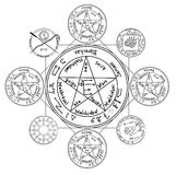 Occult ancient magic symbol. Royalty Free Stock Images