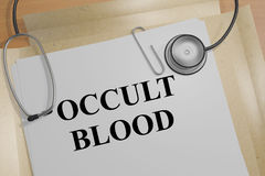 Occult Blood concept Stock Photography