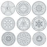 Occult, mystic, spiritual, esoteric vector symbols Royalty Free Stock Photo