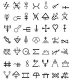 Occult symbols. Runes. occult symbols. isolated on white royalty free illustration