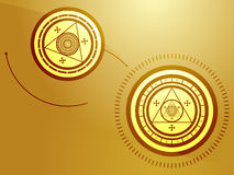 Occult symbols. Wierd arcane symbols that look strange and occult Royalty Free Stock Image