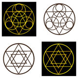 Occult vector symbols Royalty Free Stock Image