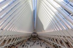 Occulus world trade center stacji Manhattan punkty zwrotni Nowy Y fotografia royalty free