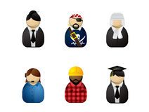 Occupation avatars Stock Images