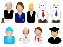Occupation avatars. Set of illustration of professions Royalty Free Stock Photography