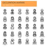 Occupation Avatars , Pixel Perfect Icons royalty free illustration