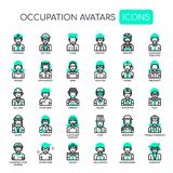 Occupation Avatars , Pixel Perfect Icons stock illustration