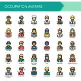 Occupation Avatars , Pixel Perfect Icons vector illustration