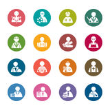 Occupation Color Icons. A collection of different kinds of occupation color icons. It contains hi-res JPG, PDF and Illustrator 9 files Stock Photos