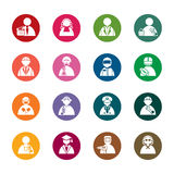 Occupation Color Icons Stock Images