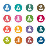 Occupation color Icons Royalty Free Stock Image