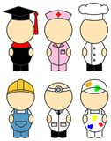 Occupation costumes Stock Images